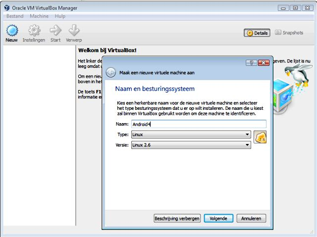 Installatie in VirtualBox 1.