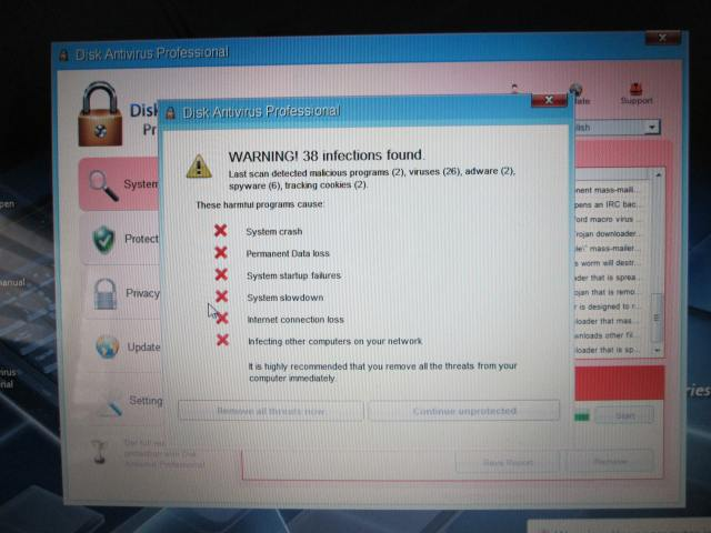 Valse virusscanner disk antivirus professional