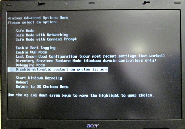 Windows XP start niet, blue screen fout 0x000000ED