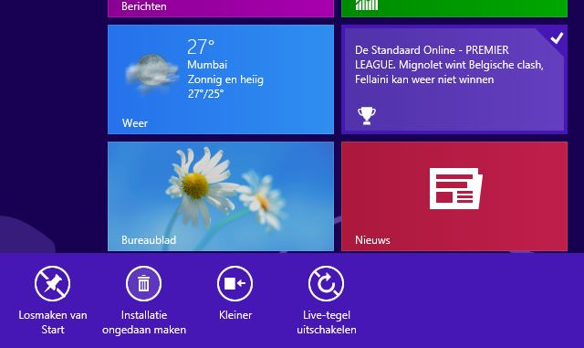 Windows 8 app verwijderen
