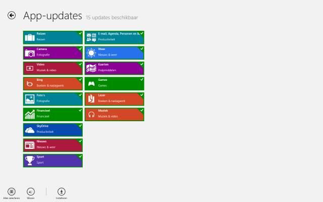 Windows 8 app updates