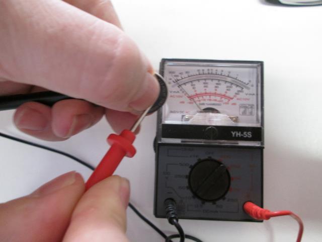 CMOS batterij testen