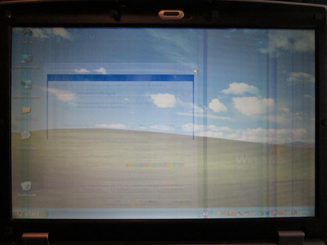 lijnen in beeldscherm laptop