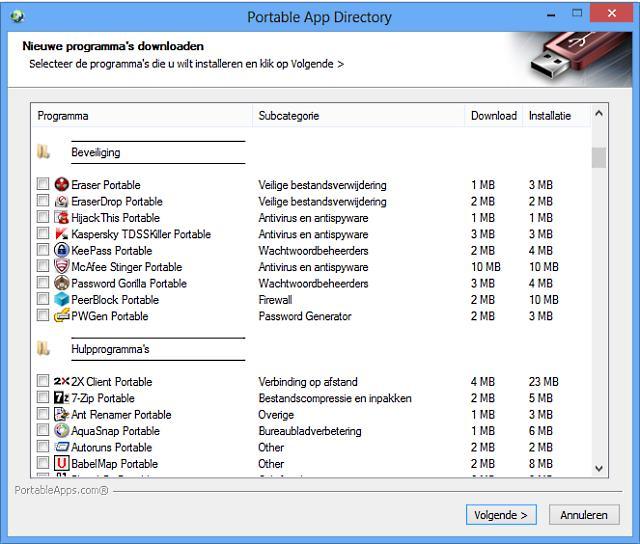 portable app directory