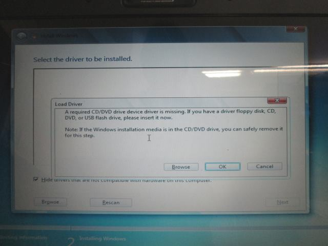 CD DVD driver ontbreekt