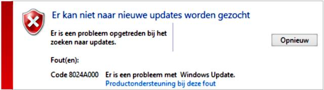 Windows update probleem