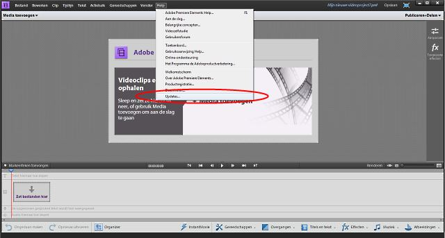 Adobe Premiere Elements updaten