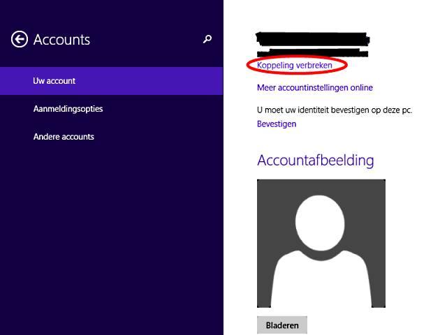 wachtwoord bij opstarten verwijderen Microsoft account