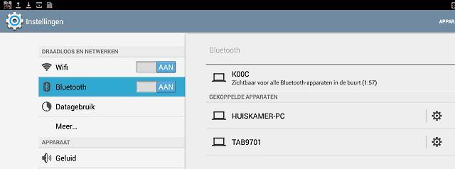 Bluetooth zichtbaar maken