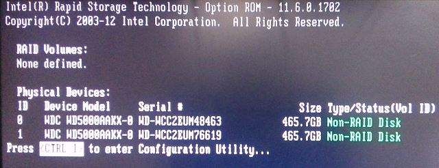 Intel RAID controller