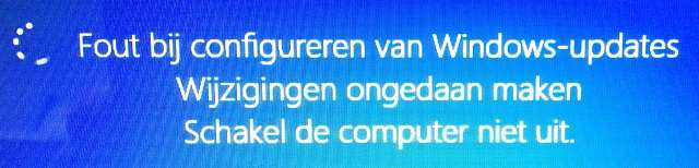 Fout bij configureren van Windows updates Windows 8