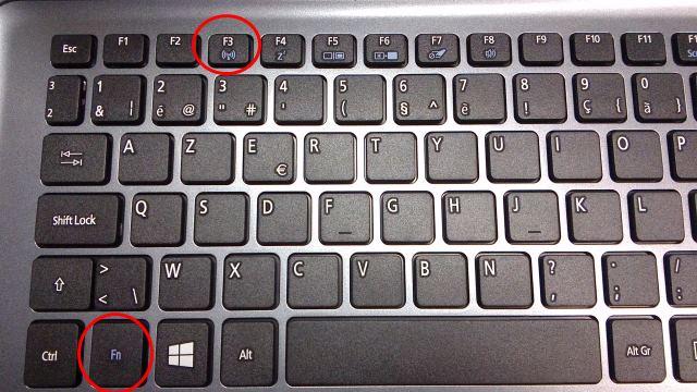 Wi-Fi in- en uitschakelen met toetsenbord