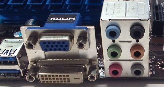 audio aansluitingen