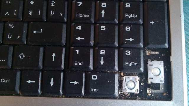 vuil laptop toetsenbord