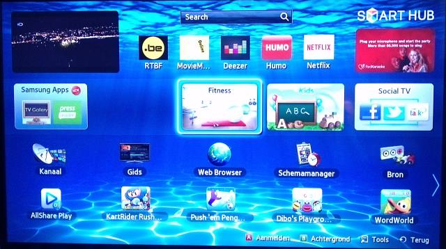 samsung smart TV screenshot