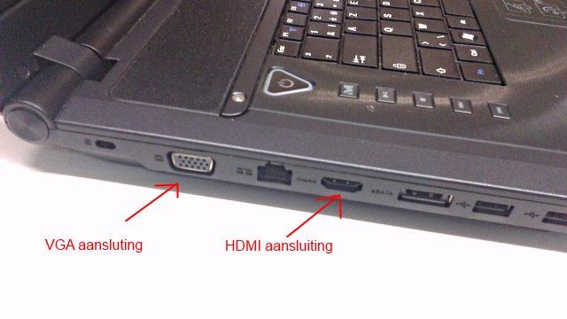 Laptop start niet op test met extern scherm