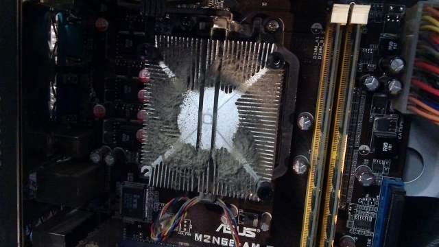 vuile koelblok AMD