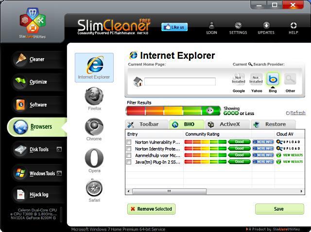 Slimcleaner maakt Internet Explorer schoon