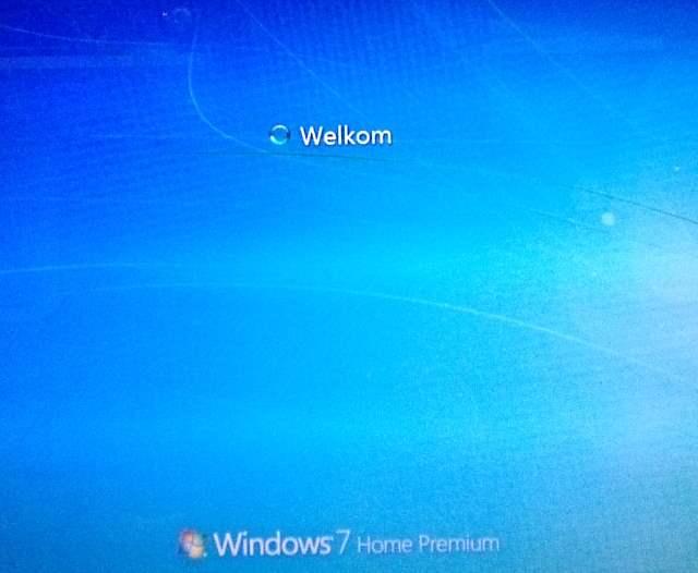 Windows 7 welkom scherm loopt vast