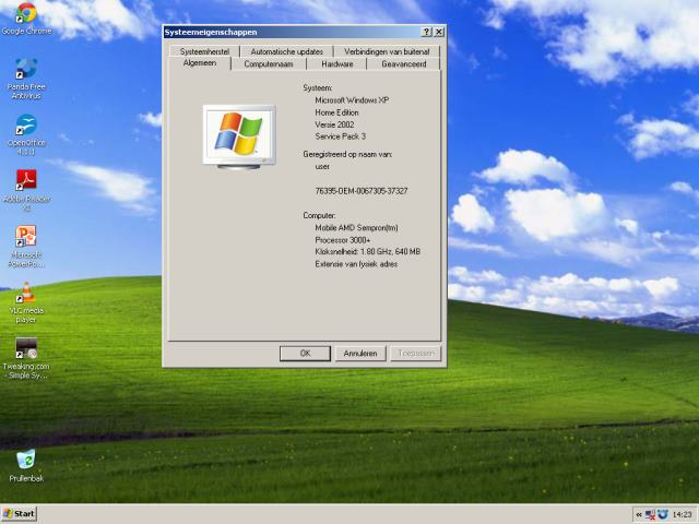 Windows XP onveilig