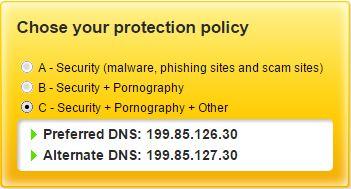 Norton ConnectSafe niveau