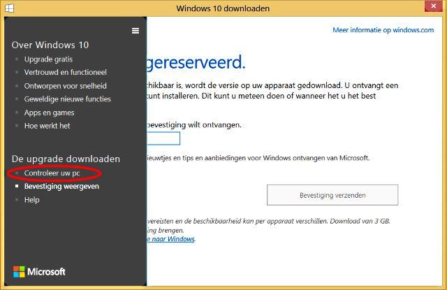 Windows 10 compatibiliteit controleren