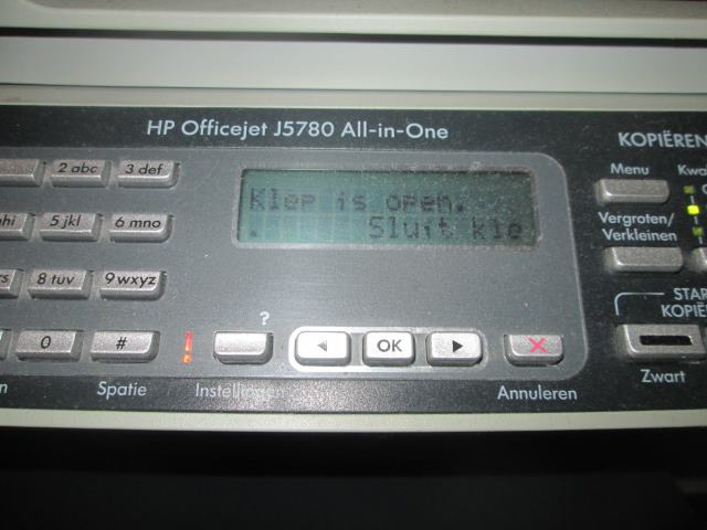 HP Officejet J5780 foutmelding
