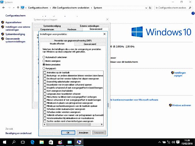 Microsoft Basic Display adapter prestaties