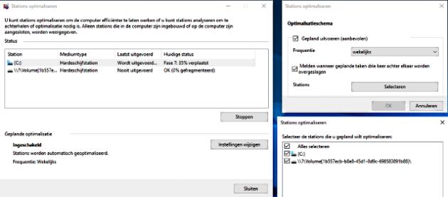 Windows 10 lokale schijf optimaliseren en plannen