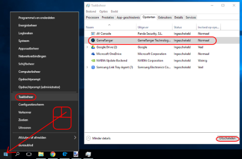 Windows 10 taakbeheer starten