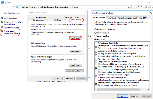 uitschakelen indexering windows 10