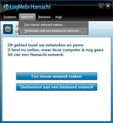 VPN instellen LogMeIn Hamachi