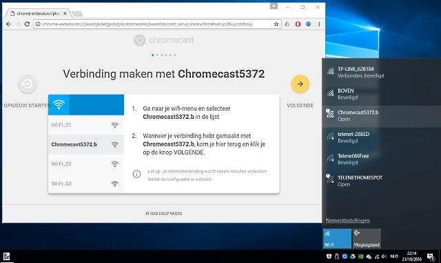 verbinding maken met de Chromecast