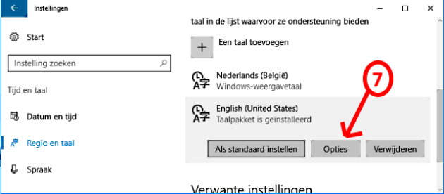 taal opties
