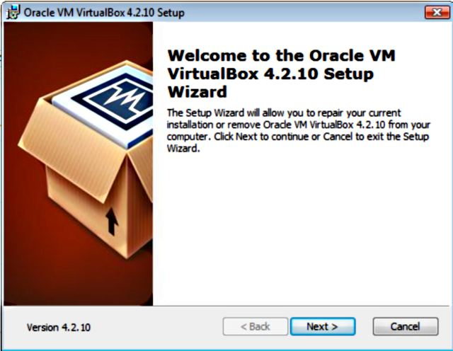 VirtualBox installatie.