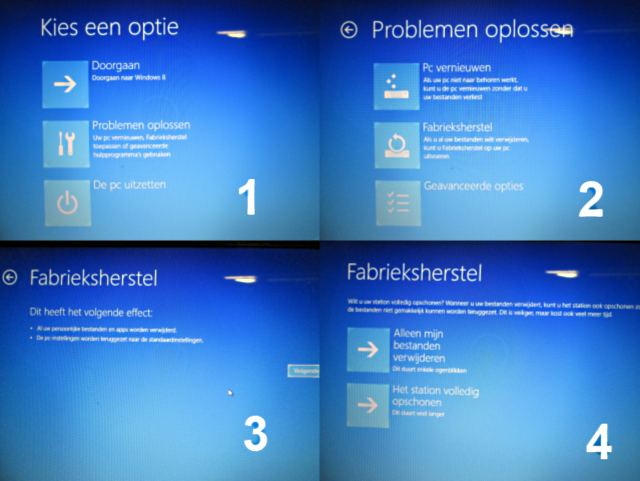System recovery Windows 8.