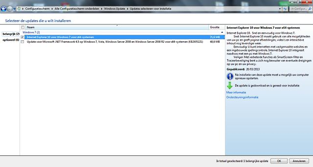 Internet Explorer 10 update.