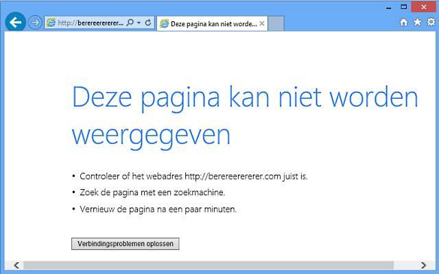 website werkt niet