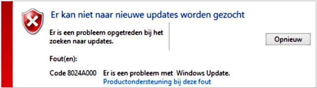 Windows update probleem