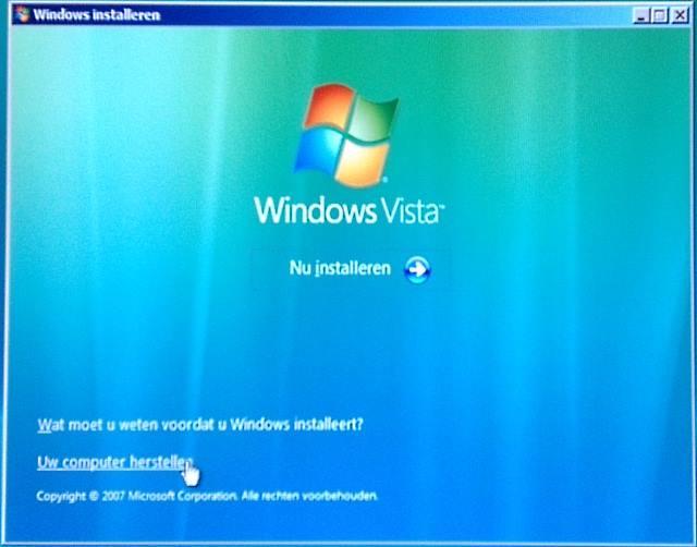 Windows Vista herstellen