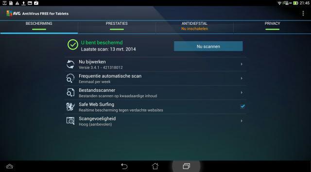 AVG gratis virusscanner voor Android