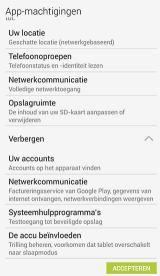 Android app machtigingen