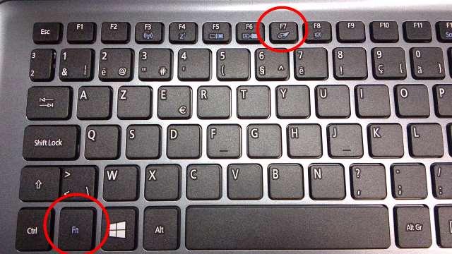 touchpad inschakelen