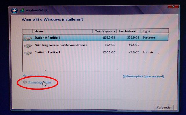 Tijden installatie van Windows 8 stuurprogramma laden