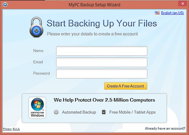 MyPC Backup van JDI Backup Ltd