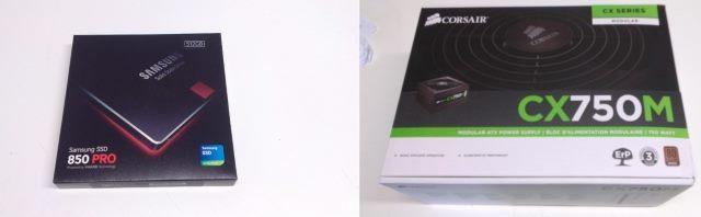 Samsung 850 Pro 512GB Corsair GS750M 750W