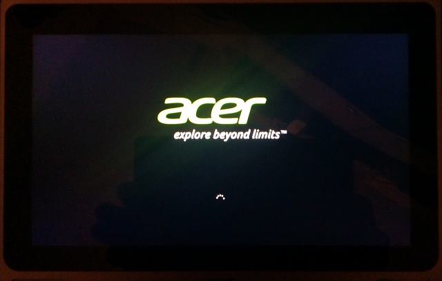 Windows 8 Acer tablet start niet