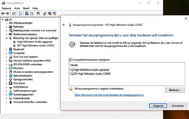 IDT High Definition Audio CODEC stuurprogramma bijwerken