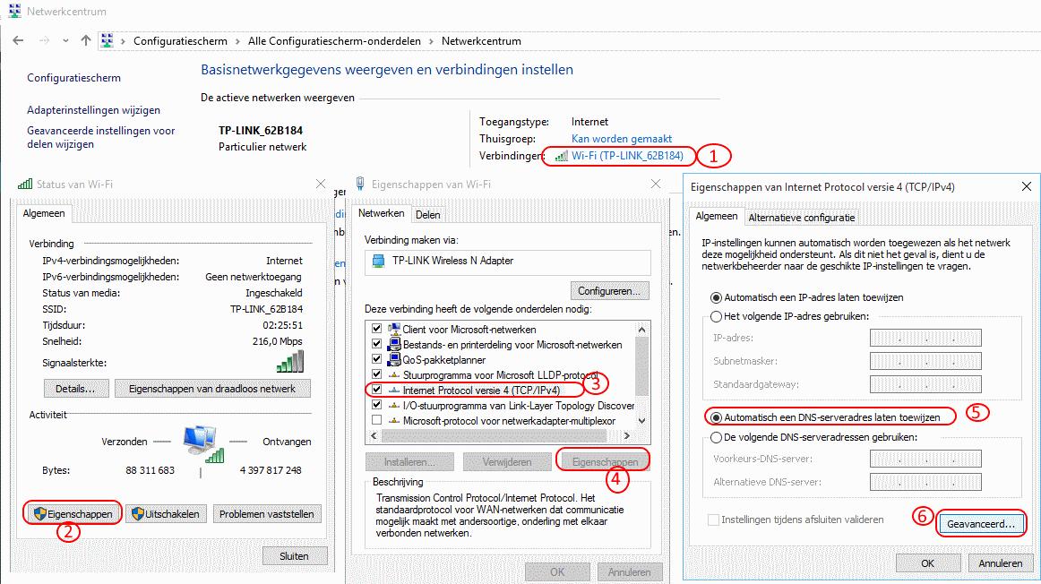 DNS Unlocker DNS instelling checken