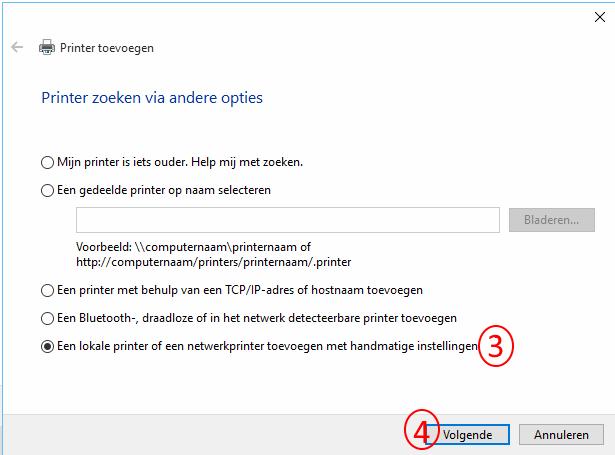 printer manueel installeren stap 2